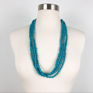 Turquoise Multi-Strand Beaded Necklace